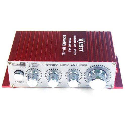 Kinter MA-180 2CH Mini digital Verstärker Übergabe-HiFi Stereo Verstärker USB für Auto Motorrad Boot