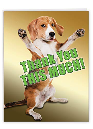 NobleWorks, This Much Dog Thank You - Jumbo Thank...