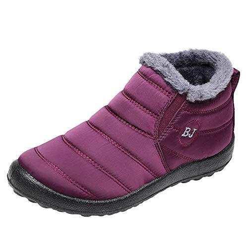 Peize Fashion Women Winter Casual Keep Warm Ankle Boots Ladies Plus Velvet Sport Shoes Flat Snow Boots