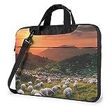 Bolsa de hombro para portátil de 15,6 pulgadas, bolsa protectora de oveja
