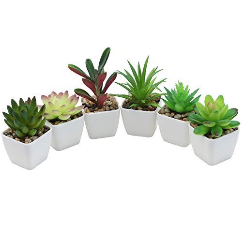 Nubry Mini Fake Succulent Plants Artificial Plastic Succulents Potted...