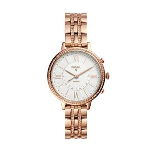 Fossil Women's Jacqueline Stainless Steel Hybrid Smartwatch, Color: Rose Gold (Model: FTW5034)