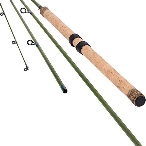 Saion 13' CENTERPIN Center PIN Float Fishing Rod 6-10lbs Wooden Cork Handle 4 Pieces Carbon Fiber...