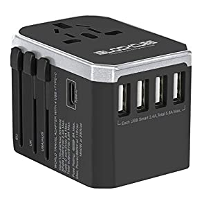 🔌【𝗔𝗟𝗟-𝗜𝗡-𝗢𝗡𝗘 𝗨𝗡𝗜𝗩𝗘𝗥𝗦𝗔𝗟 𝗧𝗥𝗔𝗩𝗘𝗟 𝗔𝗗𝗔𝗣𝗧𝗘𝗥】Travel Power Adapter covers over 150+ countries US/EU/UK/AU plugs and Powerful Dual USB Ports. It's universal in the Asia, Australia, New Zealand, Argentina, USA, Canada, Japan, Brazil, Philippines, Thailand, UK,...