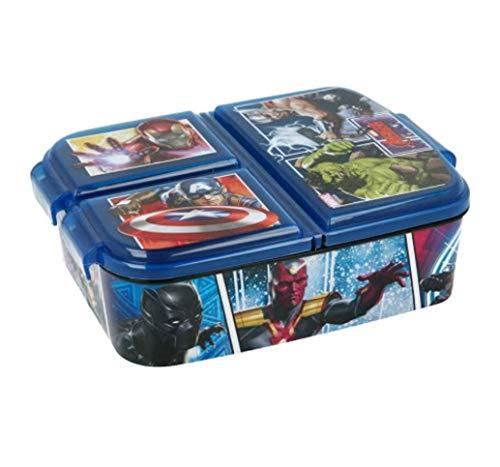 Theonoi Kinder Brotdose / Lunchbox / Sandwichbox wählbar: Avengers - Mickey – Paw aus Kunststoff BPA frei - tolles Geschenk für Kinder (Avengers)