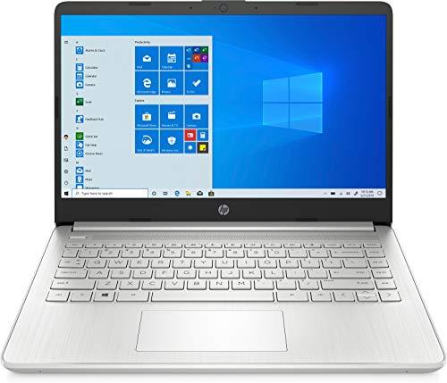 HP 14s-dq0000sf PC Ultraportable 14' HD Natural Silver (Intel Celeron, RAM 4 Go, 64 Go eMMC, AZERTY, Windows 10 Home S) Microsoft 365 Personnel inclus pendant 1 an