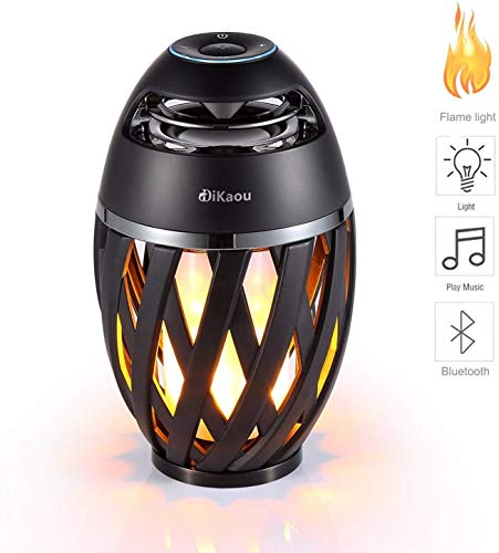 DIKAOU Led flame table lamp, Torch atmosphere Bluetooth...