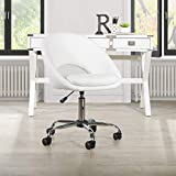 OSP Home Furnishings Milo Office Chair, White