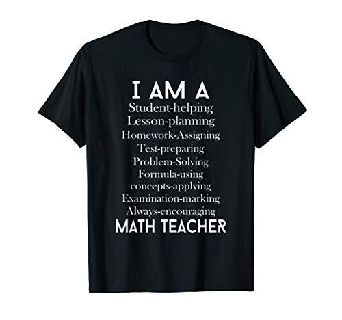 Math Teacher Gift - I Am A Student Helping Math Teacher...