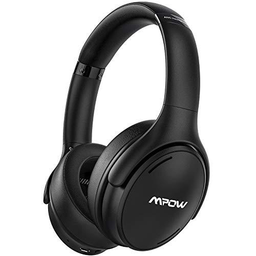 Mpow H19 IPO Casque à Réduction de Bruit Active,Casque Bluetooth 5.0,CVC 8.0 avec Technologie de Charge Rapide, Jusqu'à 35 Heures Pliable Casque sans Fil à Réduction de Bruit