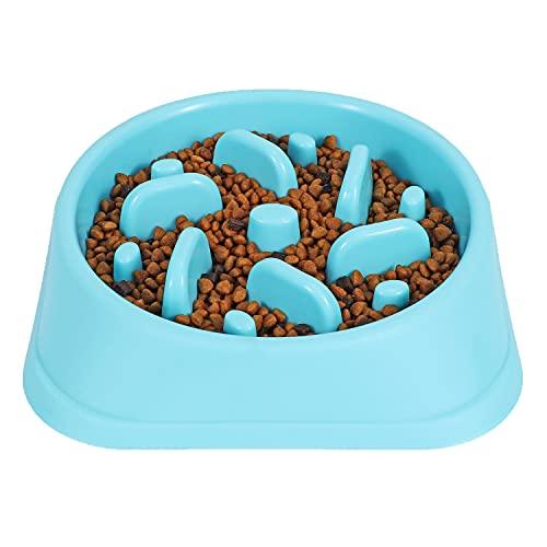 JASGOOD Dog Feeder Slow Eating Pet Bowl...