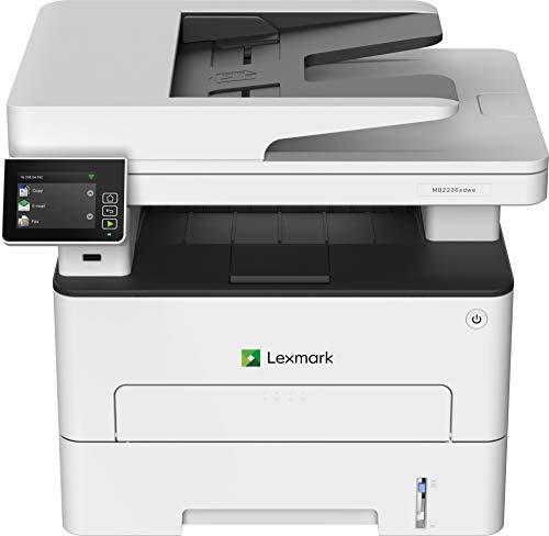 Lexmark MB2236ADWE 4-in-1 Monolaser-Multifunktionsgerät (Drucker, Kopierer, Scanner, Fax, WLAN, LAN, bis zu 34 S./Min., autom. beidseitiger Druck, 7,2 cm-Touchscreen) schwarz/grau