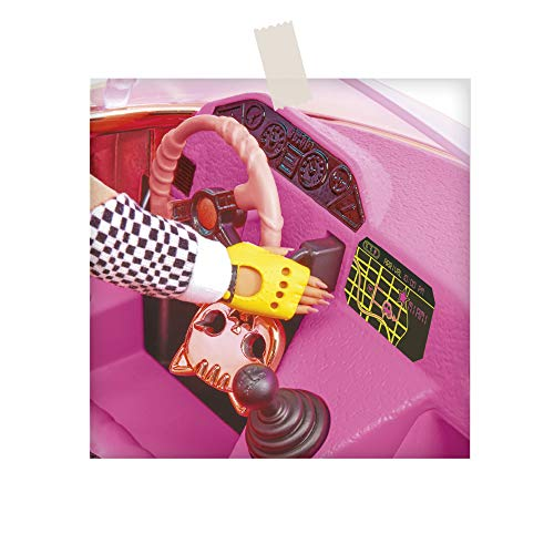 Image 9 - L.O.L. Surprise, Lights Car-Pool Coupe - avec 1 Poupée exclusive 8cm, lumière Noire, coffre Transformable, Poupée phosphorescente, Accessoires, Piles non incluses, Jouet pour Enfants dès 3 Ans, LLUB7