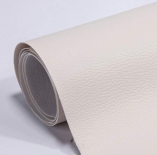 Toppa di riparazione in pelle PU per divano 53X19,68 pollici Topmall1 Toppa in gomma adesiva fissa autoadesiva per divano, seggiolino auto, divano, mobili, borse (beige)