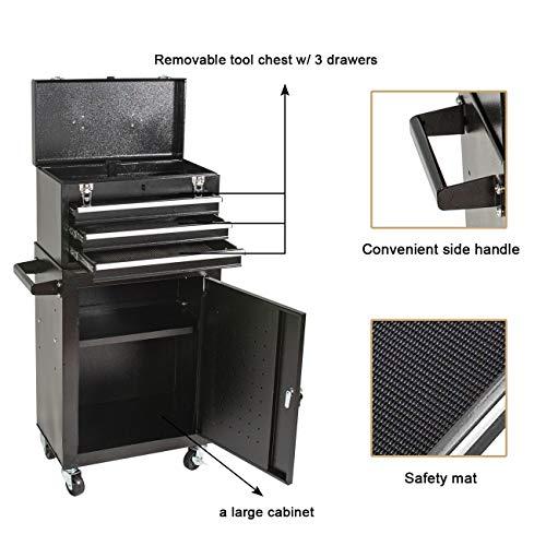 Product Image 4: 3 Drawer Mini Mechanic Tool Box Rolling Garage <a href=