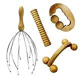 Vivezen Kit de massage 4 pièces en bois pour le dos, la tête, les...