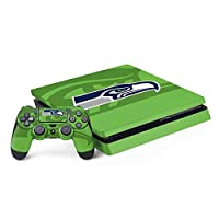 Ultra-Thin, Lightweight PS4 Slim Bundle Vinyl Decal Protection Officially Licensed NFL Design Industry Leading Vivid Color Vinyl Print Technology on your Seattle Seahawks Double Vision skin Scratch - Resistant. Built To Last Everday PS4 Slim Bundle U...