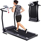 Folding Treadmill for Home, Smart Electric Treadmill with LED Monitor, Safe Handlebar & Safe Key, Portable Walking Running Jogging Exercise Equipment with Fixed Incline & Easy Assemble