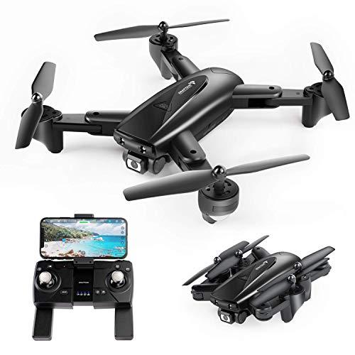 SNAPTAIN SP500 1080P Drone con GPS Telecamera FHD, Trasmissione WiFi 5G, modalità Ritorno Home, modalità Seguimi, Controllo dei Gesti, Volo Circolare, modalità Hover per i Principianti