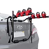 Toolman Universal Rear 3-Bike Carrier Rack 40kg Maximum Load Capacity Hitch Mount Double Foldable Rack for Cars, Trucks, SUV's and Mini Vans with a 2' Hitch Receiver QTH041