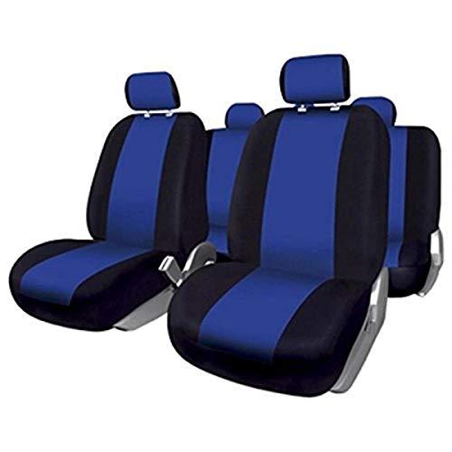 BCCORONA FUK10409 Set Komplette Autositzbezüge Sevilla, Schwarz/Blau
