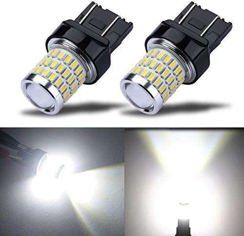 7443 7440 T20 W21/5W Lampadina led, Super Bright con Proiettore, Xenon Bianco, per luci di posizione, luce dei freni, fanali posteriori, luci diurne, 2 Pz