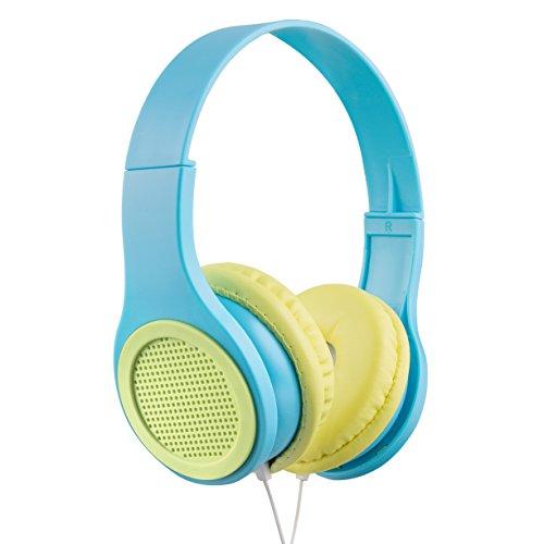 Vivitar GRILLHP-BL Grill Headphones, Blue/Lime Green