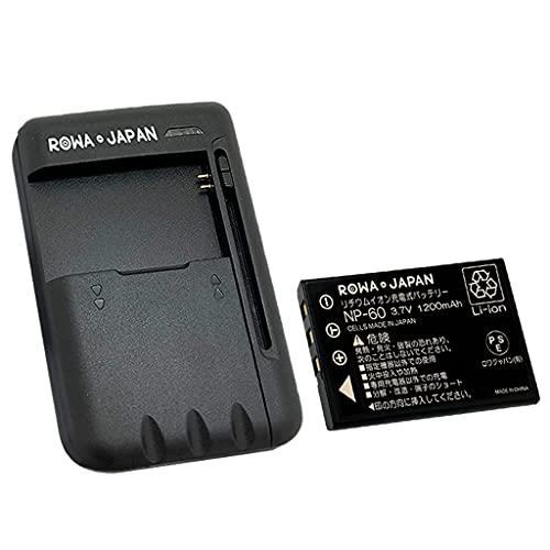 USB マルチ充電器 と FUJIFILM 富士フイルム NP-60 【2個セット】互換 バッテリー【実容量高】【ロワジャパ...