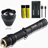 UniqueFire T67 IR Hunting Flashlight, Upgraded 3 Watts SFH 4703AS 810nm LED Infrared Light Torch with 18650 Rechargeable Batteries&USB Charger丨IR Illuminator for Night Vision Device Fill Light