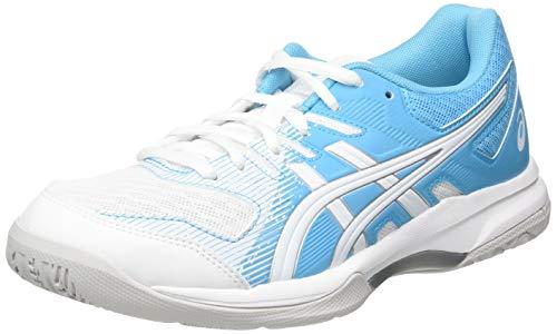 Asics Gel-Rocket 9, Zapatillas de Deporte Interior Mujer, Blanc Bleu Ciel, 40 EU