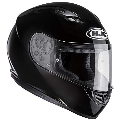 HJC(エイチジェイシー)バイクヘルメット フルフェイス ブラック (サイズ:M) CS-15ソリッド HJH113