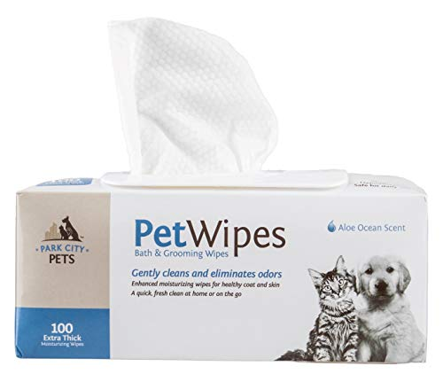 Professional Pet Grooming Wipes for Dogs and Cats,...