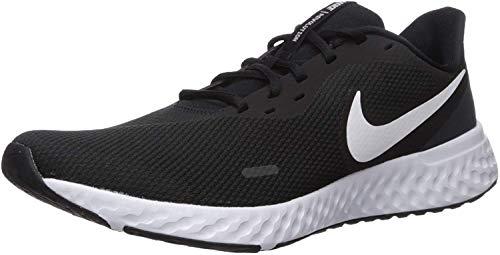 Nike Revolution 5, Zapatillas de Atletismo Hombre, Multicolor (Black/White/Anthracite 002), 43 EU