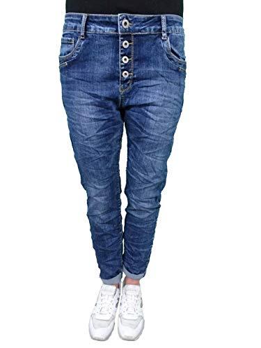 Karostar Denim Stretch Baggy-Boyfriend-Jeans Boyfriend 4 Knöpfe...