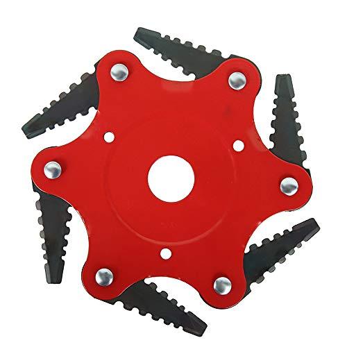 You's Auto Tagliaerba Universale a 6 Denti per Giardino Trimmer Head Razors 65Mn Attrezzo per...