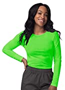 """FIT & STYLE: Classic Fit, CB Length 26"""" In Size M. COLORS: Solid Color T Shirts, Comes In Variety Of Colors. FEATURES: Double Stitched Crew Neckline, Tagless Neck For Comfort. PROFESSIONAL: This Scrub Shirt is Perfect For Any Nurse, Doctor & More! MA..."""