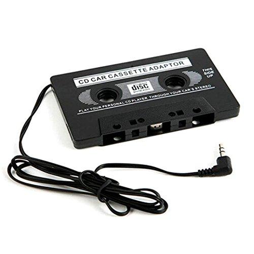 BKAUK 3,5 mm AUX Auto Trasmettitori con Adattatore per Cassette Audio per MP3 per MD iPhone