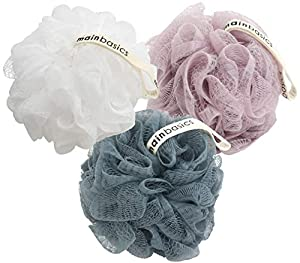 Gentle rejuvenation - Without exfoliation, soap can only do so much to revive your skin's radiance. Dispel dull skin by gently exfoliating while you wash with your 3 MainBasics shower scrubber loofahs Comes Clean - When you look for loofahs in stores...