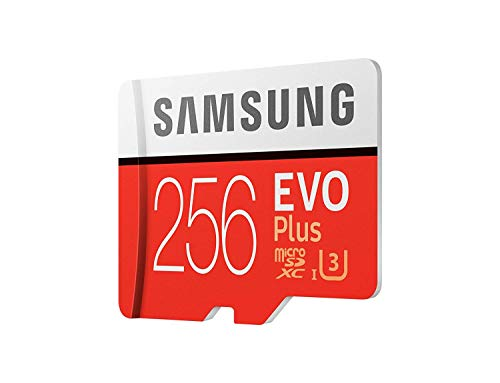 Samsung Galaxy Z Flip (Gold, 8GB RAM, 256GB Storage)-Samsung EVO Plus 256GB microSDXC UHS-I U3 100MB/s Full HD & 4K UHD Memory Card with Adapter 4