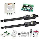 TOPENS PW302 Dual Gate Opener Light Duty Automatic Gate Opener Kit for Dual Swing Gates Up to 12 Feet or 300 Pounds Gate Motor AC Powered