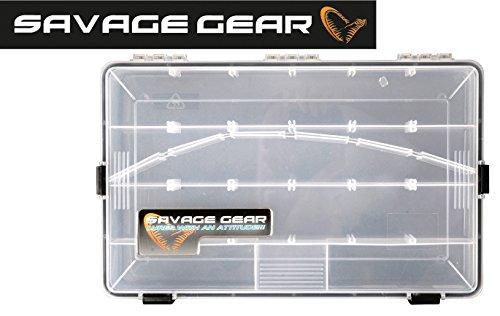 Savage Gear - Scatola porta esche, impermeabile, dimensioni: 35,5 cm x 23 cm x 5 cm, cassetta da pesca per esche artificiali, in gomma, minnow