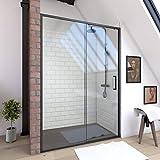 Paroi porte de douche à porte coulissante - 120x200cm - PORTE COULISSANTE - PROFILE...