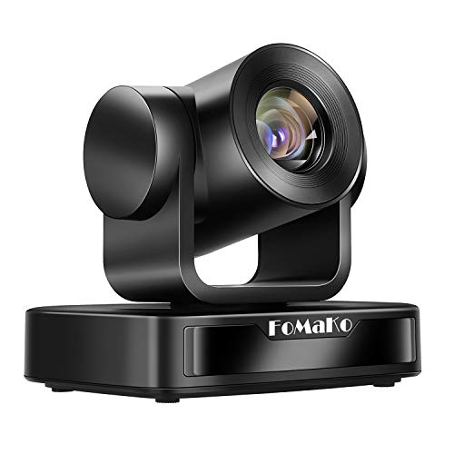 FoMaKo 10X Zoom Fotocamera Videoconferenza, Telecamera USB PTZ,Full HD 1080p, Videocamera per videoconferenze Webcam FMK102U