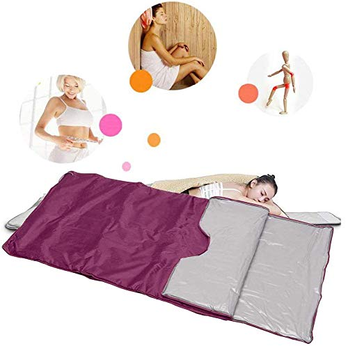 FTNJG Heat Sauna Slimming Blanket, 2 Zone Far Infrared Sauna Blanket with Safety Switch Used As Home Sauna for Reduce Weight Thin Body Home Beauty 5