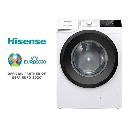 Hisense WFGE8014V Lavatrice freestanding a carica frontale, Capacit 8 Kg, Classe energetica A+++,...