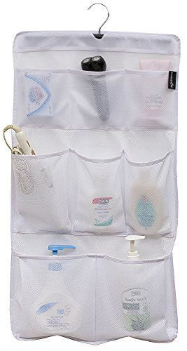 MISSLO 8 Pockets Mesh Shower Organizer Hanging Caddy with...