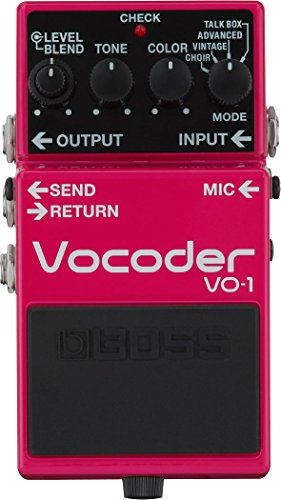 BOSS VO-1 Vo Coder Effects Pedal, Powerful Vocal Expression For Guitar and Bass
