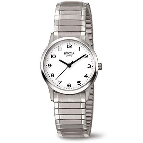 Boccia Damen Analog Quarz Uhr mit Titan Armband 3287-01