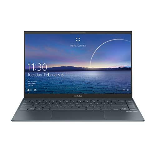 "Asus Zenbook 14 UX425EA#B08CGKYNYN, Notebook alluminio, Monitor 14"" FHD Anti-Glare, Intel Core 11ma Generazione i7-1165G7, RAM 8GB, 512GB SSD PCIE, Grafica Intel Iris Xe, Windows 10 Home, Lilac Mist"