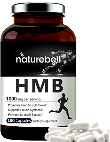 Maximum Strength HMB Capsules 1000mg Per Serving, 180 Counts, Supports Muscle Recovery, No GMOs
